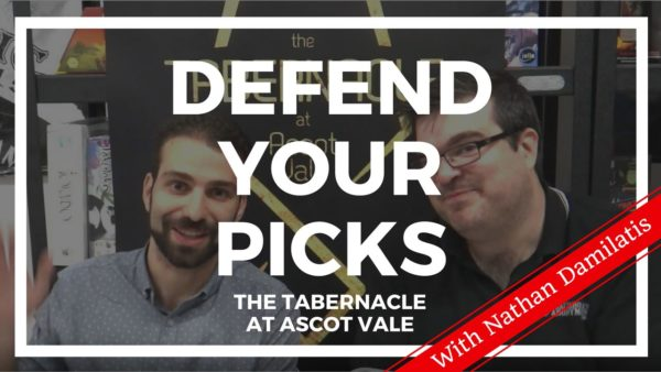 Defend Your Picks: Nathan Damilatis – The Tabernacle at Ascot Vale